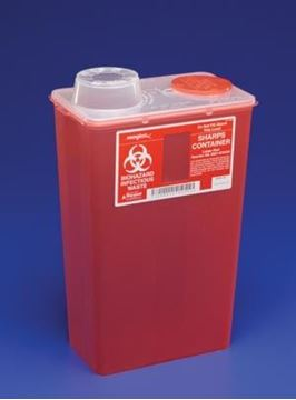 Picture of COVIDIEN 4 QT CHIMNEY TOP RED SHARP CONTAINER