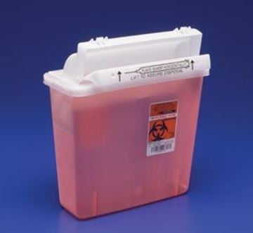 Picture of COVIDIEN 5 QT SHARPS W/ COUNTERBAL DOOR
