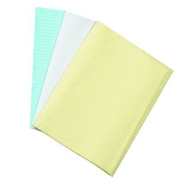 Picture of QUALA 3 PLY PATIENT BIBS- YELLOW