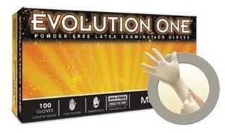 Picture of EVOLUTION ONE PF LATEX EXAM GLOVES X-SMALL