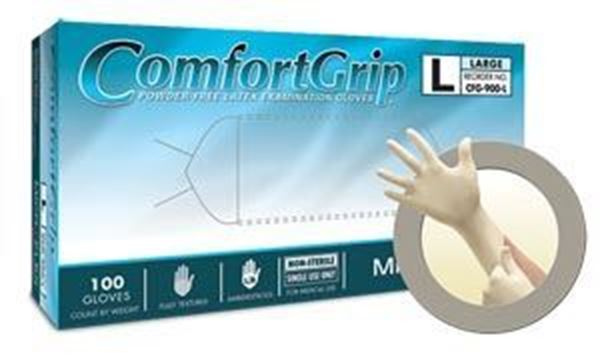 Picture of COMFORT GRIP PF LATEX EXAM GLOVES EXTRA-SMALL