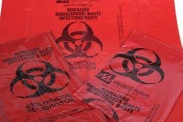 Picture of 23X 23 RED INFECT BAG