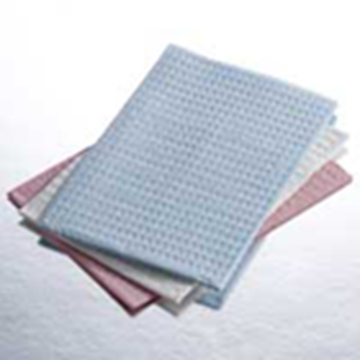 Picture of QUALA 3 PLY PATIENT BIBS- GRAY