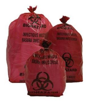 Picture of 1 GAL RED BIOHAZARD BAGS