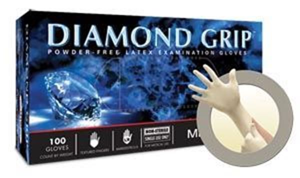Picture of DIAMOND GRIP PF LATEX EXAM GLOVES