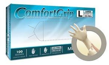 Picture of COMFORT GRIP PF LATEX EXAM GLOVES LARGE