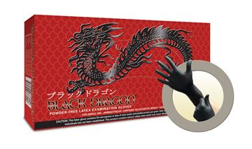 Picture of BLACK DRAGON PF LATEX EXAM GLOVES X-SMALL