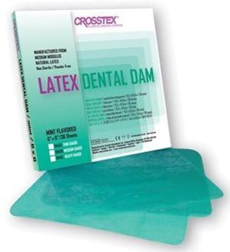 "Picture of CROSSTEX DENTAL DAMS 6"" X 6"""